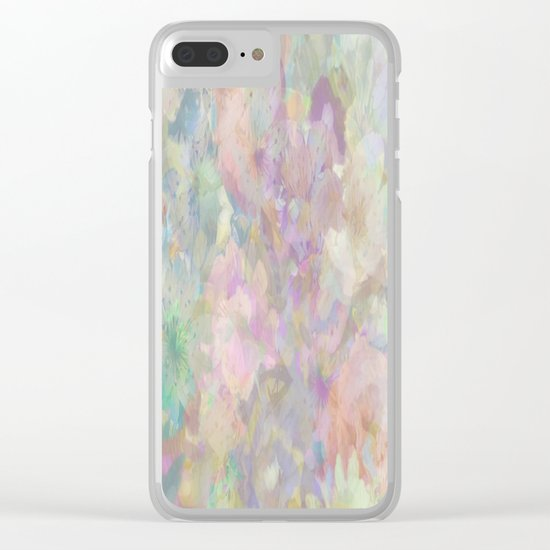 Sweet Spring Pastel Floral Abstract Clear iPhone Case