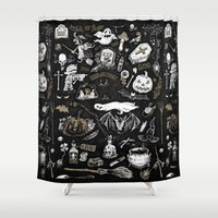 witchcraft Shower Curtains featuring Witchcraft by pakowacz