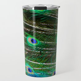 Peacock Feathered Travel Mug