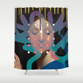 Defacement Shower Curtain