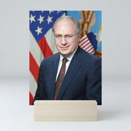 Official portrait of Secretary of Defense Richard B. Cheney Mini Art Print