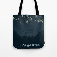 alabama Tote Bags featuring ALABAMA SHAKES by Josh LaFayette