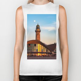 Seaside resort Warnemünde the moon says goodbye to the sun Biker Tank