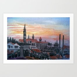 Sun in Budapest Art Print