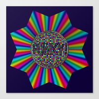 funky Canvas Prints featuring FUNKY! by A-Devine