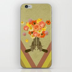 In my world, flowers come out of guns iPhone & iPod Skin