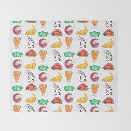 Cute Animals Throw Blanket