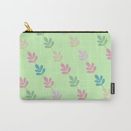 Flowers on Vine - Green Branches Carry-All Pouch
