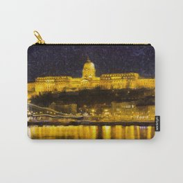Budapest Chain Bridge And Castle Art Carry-All Pouch