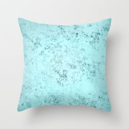 Crystallized Light Blue Throw Pillow