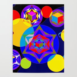 A Galaxy of Stars, Cubes and Planets Poster