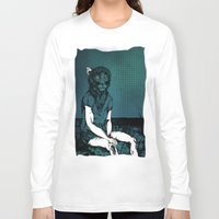 monkey Long Sleeve T-shirts featuring Monkey by Merwizaur