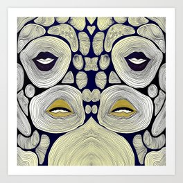 mouths in ripples  Art Print