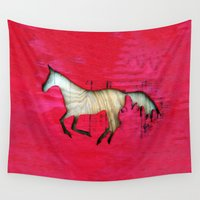 horse Wall Tapestries featuring Horse by Brontosaurus