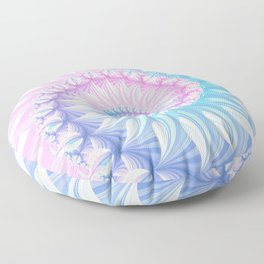 Striped Pastel Spiral in Pink, Blue and Purple Floor Pillow