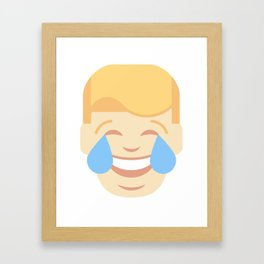Trumpation - Tears of joy Framed Art Print