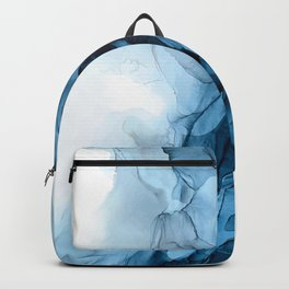 Deep Blue Flowing Water Abstract Painting Backpack