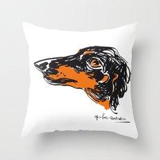 Zoe the datchshound Throw Pillow