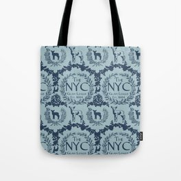 NYC Glam League Crest No. 3 in Robin's Egg Blue Tote Bag