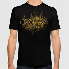 Just Breathe Black MEDIUM Mens Fitted Tee