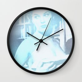 Throwing In The Towel Wall Clock