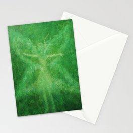 Green fairy Stationery Cards