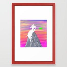 Goat Ultimate Frisbee Framed Art Print
