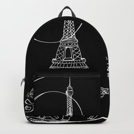 Paris city in a glass ball . Home decor, art prints Backpack