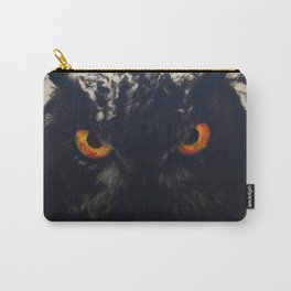 owl look digital painting orcfnd Carry-All Pouch