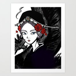 Dragon Lady Art Print