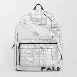 Minimal City Maps - Map Of Palmdale, California, United States Backpack