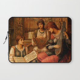 "John Melhuish Strudwick ""The Gentle Music of a Bygone Day"" Laptop Sleeve"