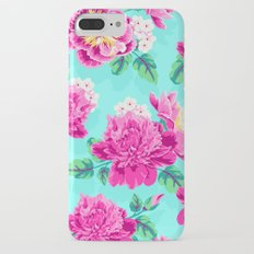 Bright Flowers Pretty Peonies iPhone 7 Plus Slim Case