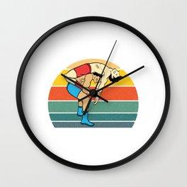 "Retro Wrestling Shirt For Amateur Or Professional Wrestler ""Back throw"" T-shirt Design Wrestling Wall Clock"
