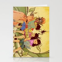 fairy tale Stationery Cards featuring Fairy Tale by Radical Ink by JP Valderrama
