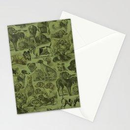 OVER 20 DOG BREEDS kENNEL - Sage Green Stationery Cards