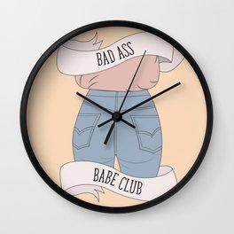 Bad Ass Babe Club Wall Clock