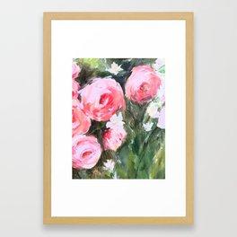 Flowers in the Grass Framed Art Print