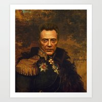 replaceface Art Prints featuring Christopher Walken - replaceface by replaceface