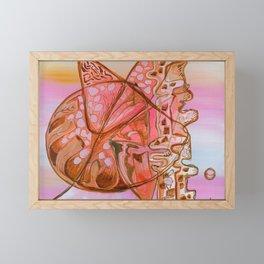 Something Jurassic In Pink & Brown Framed Mini Art Print