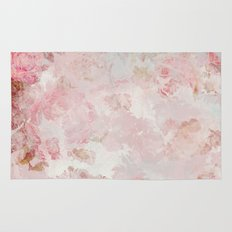 Vintage Floral Rose Roses painterly pattern in pink on #Society6 Rug
