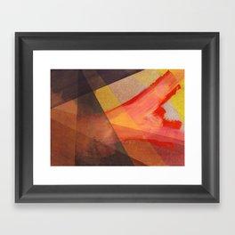 Orange flow Framed Art Print