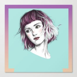 Pink Ombre Hair Canvas Print
