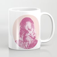 chewbacca Mugs featuring Chewbacca by NJ-Illustrations