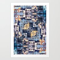 community Art Prints featuring Community of Cubicles by Phil Perkins