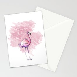 be a flamingo Stationery Cards