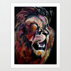 Friendly Lion Art Print