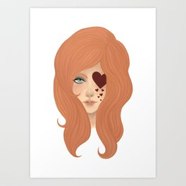CHOCOLATE HEARTS Art Print