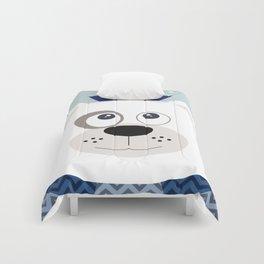 Polar bear blue 2 Comforters