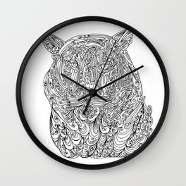 The power of the tiger Wall Clock